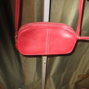 Vintage Coach Legacy Leather Purse Red